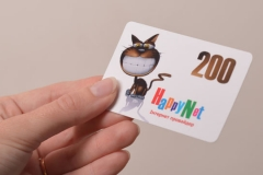 scratch-card replenishment account  86х54 мм